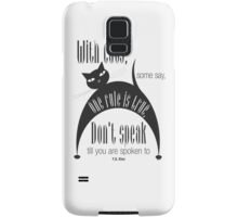 The Well-Read cat - 7 Samsung Galaxy Case/Skin