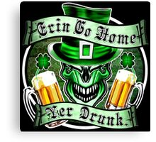 Irish Leprechaun Skull 3: Erin Go Home 2 Canvas Print