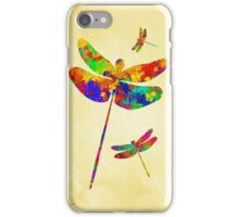 Dragonfly Watercolor Art iPhone Case/Skin