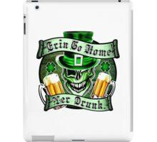 Leprechaun Skull 2: Erin Go Home Yer Drunk 2 iPad Case/Skin