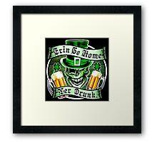 Leprechaun Skull 2: Erin Go Home Yer Drunk 2 Framed Print