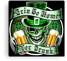 Leprechaun Skull 2: Erin Go Home Yer Drunk 2 Canvas Print