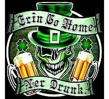 Leprechaun Skull 2: Erin Go Home Yer Drunk 2 Photographic Print