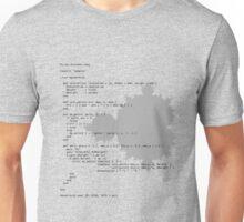 Self-Documenting Mandelbrot Unisex T-Shirt