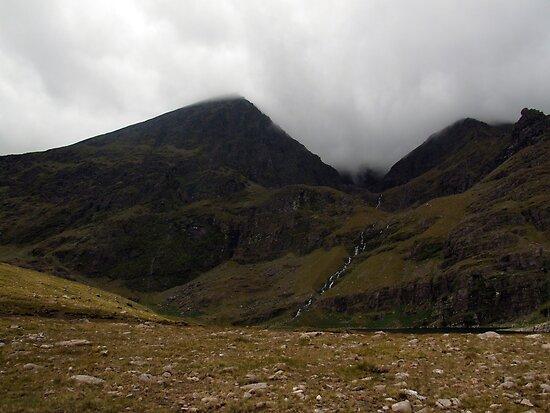 Cloudy day on Carrauntoohil by John Quinn
