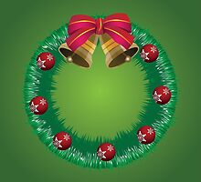 Christmas wreath with bells by AnnArtshock