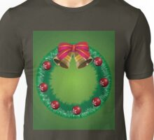 Christmas wreath with bells Unisex T-Shirt
