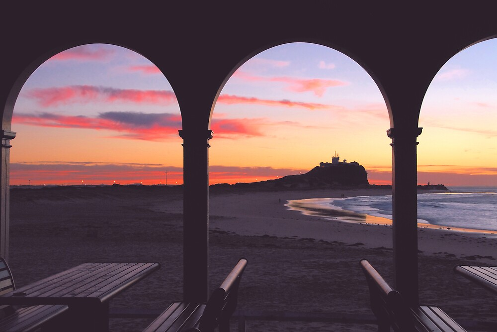 Dawn at Nobby's Beach by Paul Lamble