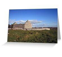 Rural Burren Church ruins Greeting Card