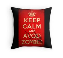 Keep Calm and Avoid Zombies Throw Pillow