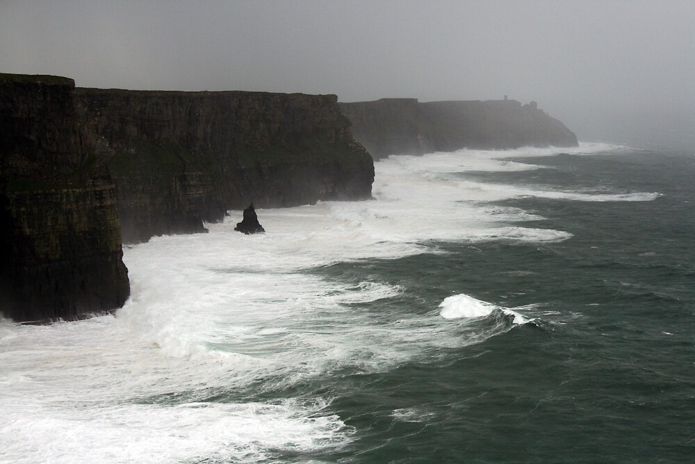 Stormy day at the Cliffs of Moher by John Quinn