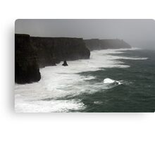 Stormy day at the Cliffs of Moher Canvas Print