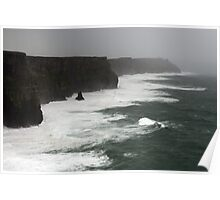 Stormy day at the Cliffs of Moher Poster