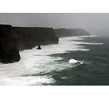 Stormy day at the Cliffs of Moher Photographic Print