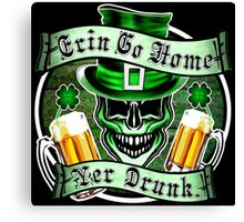 Leprechaun Skull 1: Erin Go Home Yer Drunk 2 Canvas Print