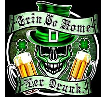 Leprechaun Skull 1: Erin Go Home Yer Drunk 2 Photographic Print
