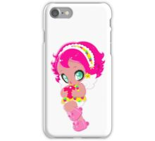 Cute funny girl with a heart iPhone Case/Skin