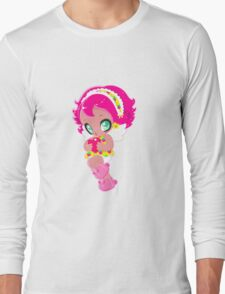 Cute funny girl with a heart Long Sleeve T-Shirt