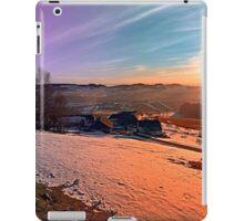 Colorful winter wonderland sundown | landscape photography iPad Case/Skin