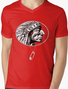 Redskins & Safetypins Mens V-Neck T-Shirt