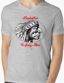 Redskins & Safetypins Mens V-Neck T-Shirt