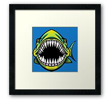 Angry Fish Design  Framed Print
