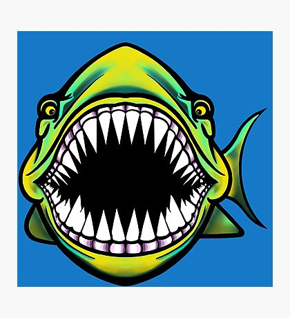 Angry Fish Design  Photographic Print