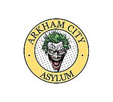 Arkham City Asylum (badge) Photographic Print