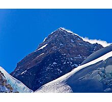 The Highest Point on Earth Photographic Print