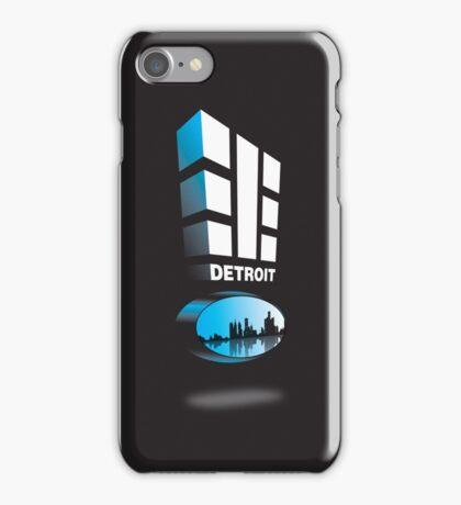 "Detroit 313 ""Represent"" on blk iPhone Case/Skin"