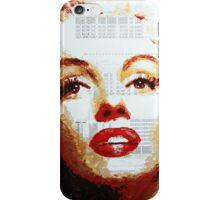 Marilyn - Blue Print iPhone Case/Skin