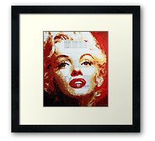 Marilyn - Blue Print Framed Print
