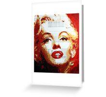 Marilyn - Blue Print Greeting Card