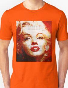 Marilyn - Blue Print Unisex T-Shirt