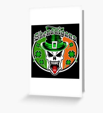 Leprechaun Skull 2.1: Shenanigans Greeting Card