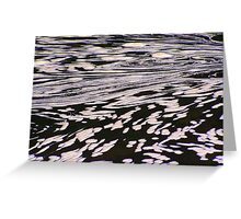 Nature's water foam abstract Greeting Card