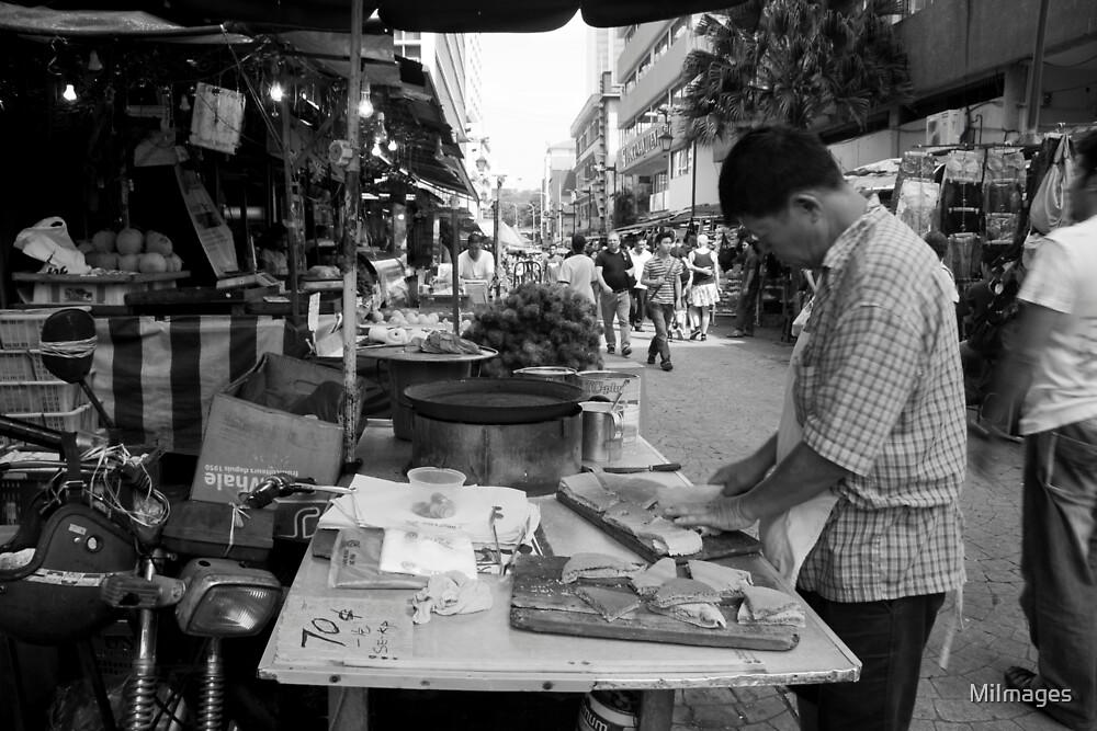 Pancake Hawker Petaling Street Kuala Lumpur Malaysia by MiImages