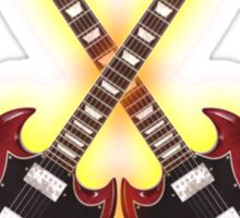 Double red vintage gibson sg Sticker