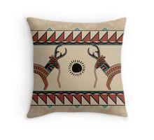 Los Antilopes Throw Pillow