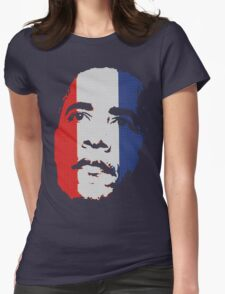 Obama Face Red White and Blue Womens Fitted T-Shirt