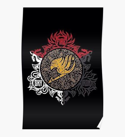 Fairy Tail Dragon Slayers logo Poster