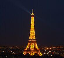 Eifel in the night by MichaelBr
