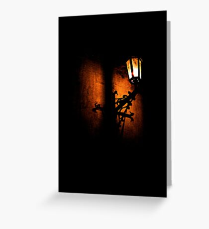 Lantern, its light and shadow Greeting Card