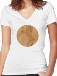 Goat Year - zodiac sign Women's Fitted V-Neck T-Shirt