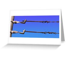Barbed Wire Sky Greeting Card