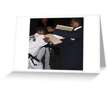 Karate in Action Greeting Card