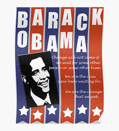 Barack Obama Change Speech  Poster
