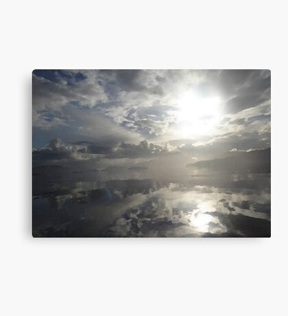 Reflections After The Storm - Abstract Seascape Canvas Print