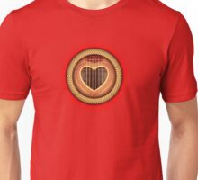 Acoustic Guitar heart Unisex T-Shirt