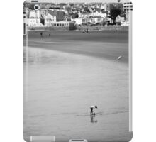 Empty Beach at weston -Lone Girl  iPad Case/Skin
